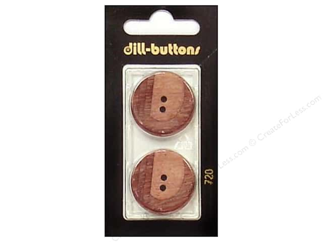 Dill 2 Hole Buttons 1 in. Wine Red #720 2pc.