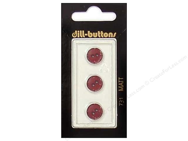 Dill 2 Hole Buttons 7/16 in. Wine Red #731 3pc.