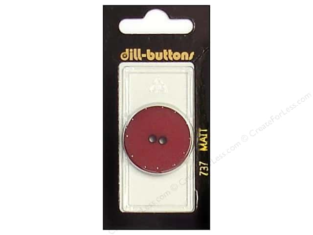Dill 2 Hole Buttons 1 1/8 in. Wine Red #737 1pc.
