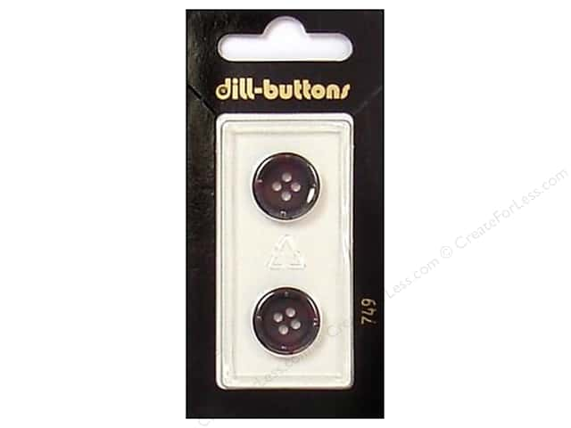 Dill 4 Hole Buttons 5/8 in. Wine #749 2pc.