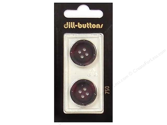 Dill 4 Hole Buttons 13/16 in. Wine #750 2pc.