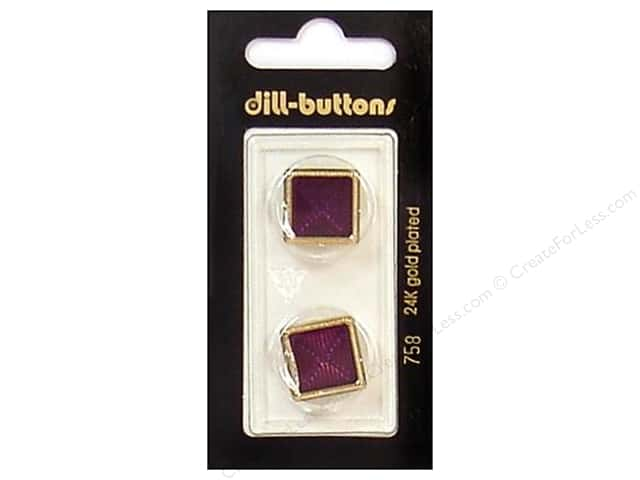 Dill Shank Buttons 13/16 in. Enamel Wine Red/Gold #758 2pc.
