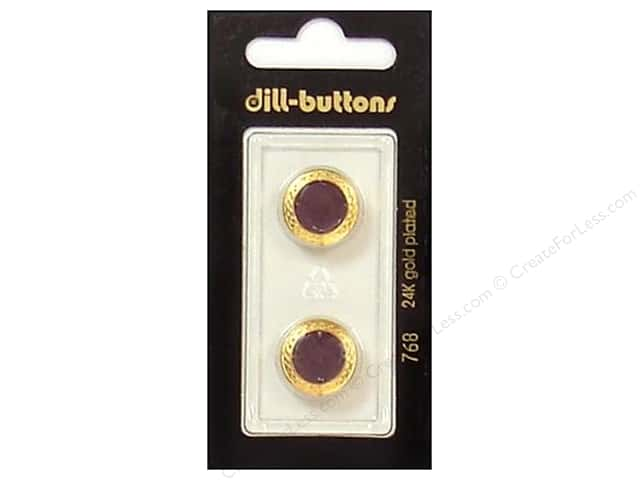Dill Shank Buttons 5/8 in. Enamel Wine Red #768 2pc.