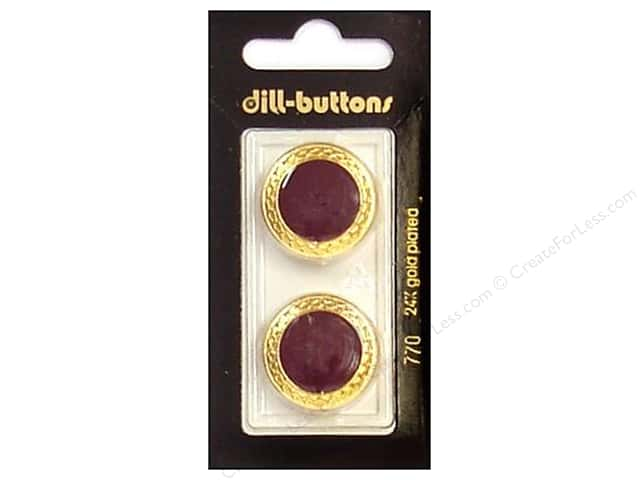 Dill Shank Buttons 7/8 in. Enamel Wine Red #770 2pc.