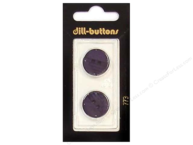 Dill 2 Hole Buttons 11/16 in. Purple #773 2pc.