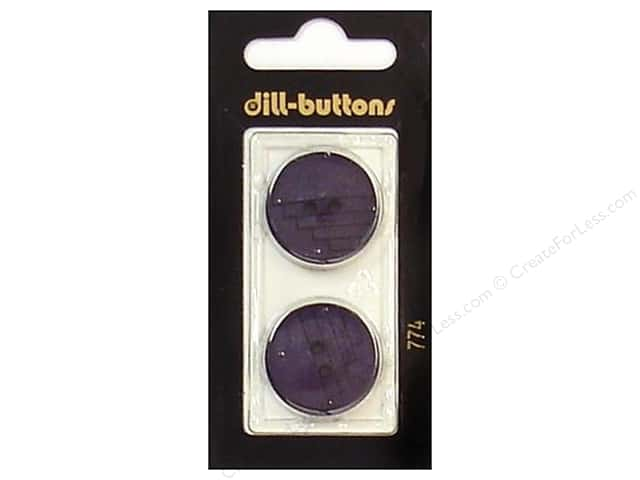 Dill 2 Hole Buttons 7/8 in. Purple #774 2 pc.