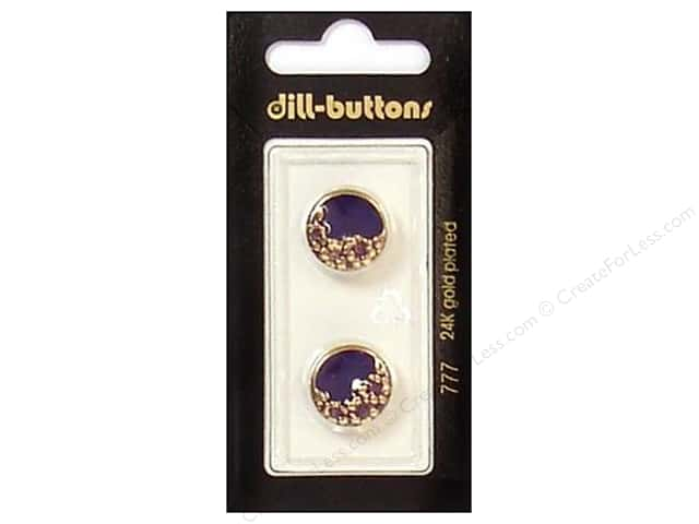 Dill Shank Buttons 5/8 in. Enamel Purple/Gold #777 2pc.