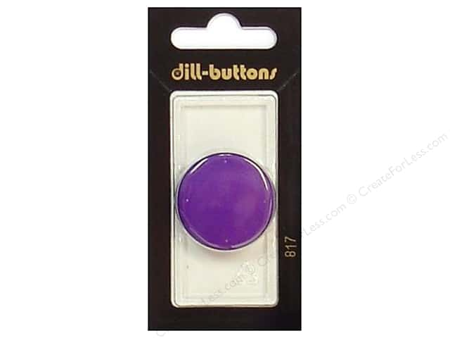 Dill Shank Buttons 1 1/8 in. Purple #817 1pc.
