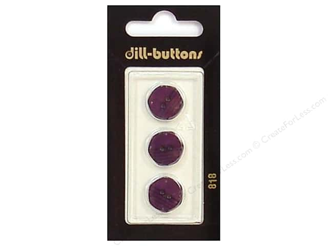 Dill 2 Hole Buttons 9/16 in. Purple #818 3pc.