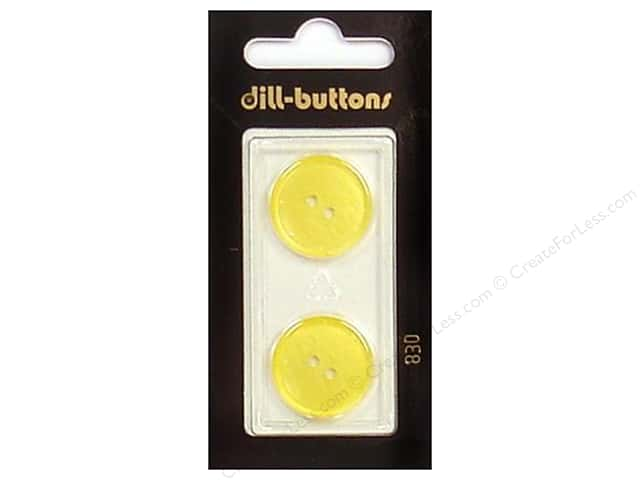 Dill 2 Hole Buttons 13/16 in. Yellow #830 2pc.