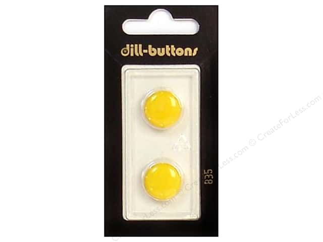 Dill Shank Buttons 5/8 in. Yellow #835 2 pc.