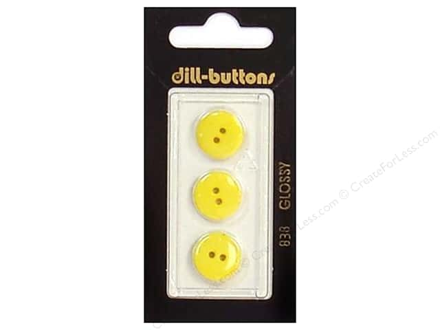 Dill 2 Hole Buttons 9/16 in. Yellow #838 3pc.
