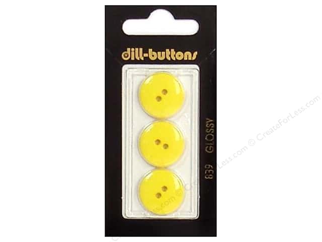 Dill 2 Hole Buttons 11/16 in. Yellow #839 3pc.