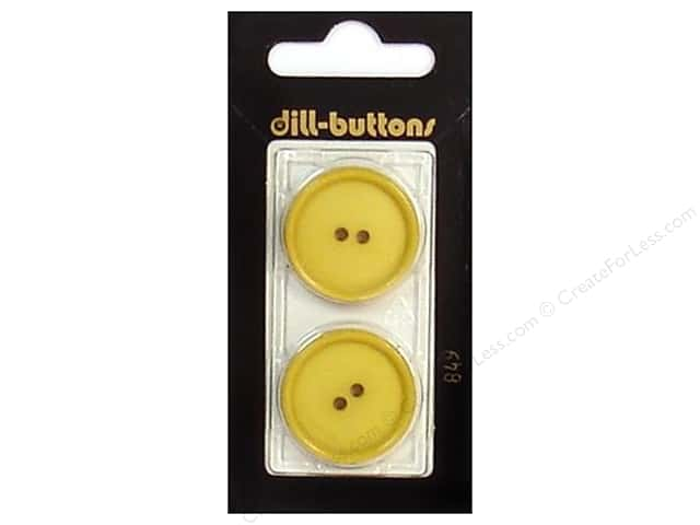 Dill 2 Hole Buttons 1 in. Yellow #849 2pc.