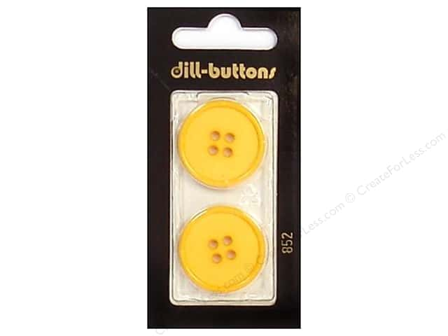 Dill 4 Hole Buttons 1 in. Yellow #852 2pc.