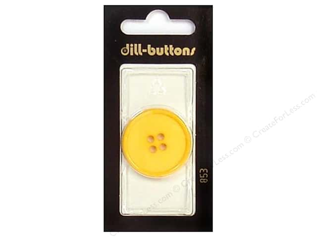 Dill 4 Hole Buttons 1 1/8 in. Yellow #853 1pc.
