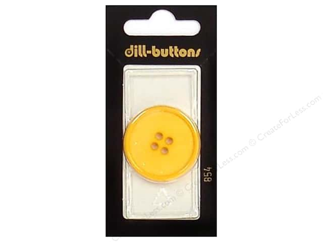 Dill 4 Hole Buttons 1 1/4 in. Yellow #854 1pc.