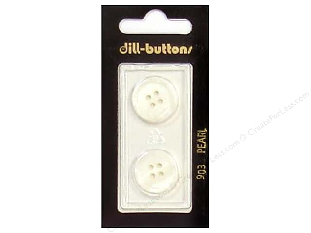 Dill 4 Hole Buttons 11/16 in. Pearlized White #903 2pc.