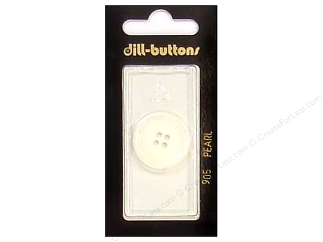 Dill 4 Hole Buttons 7/8 in. Pearlized White #905 1pc.