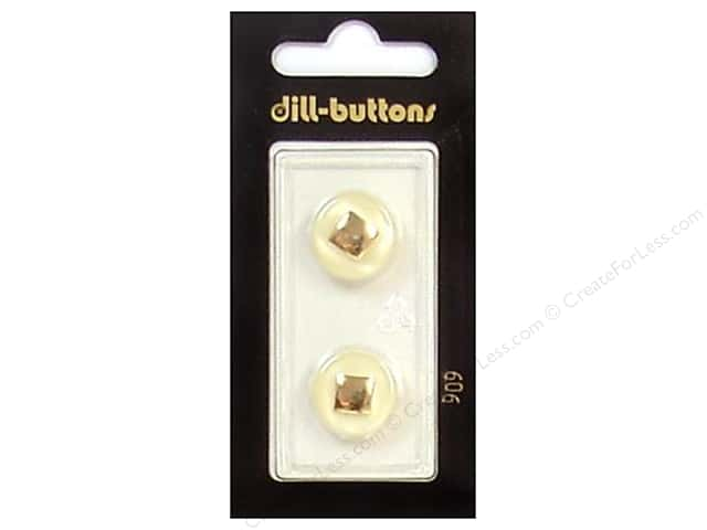 Dill Shank Buttons 5/8 in. Ivory/Gold #909 2pc.