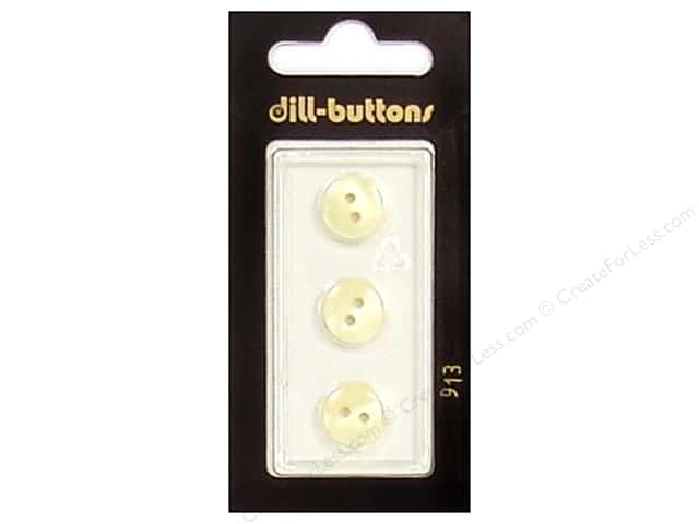 Dill 2 Hole Buttons 7/16 in. Ivory #913 3pc.