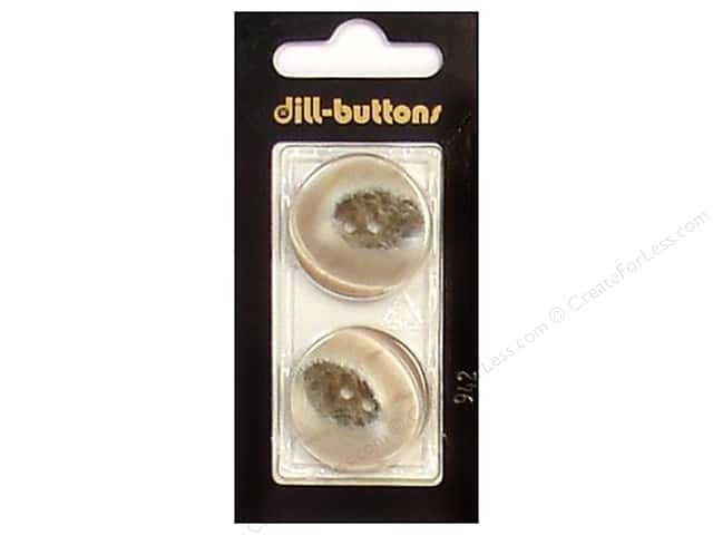 Dill 2 Hole Buttons 1 in. Beige #942 2pc.