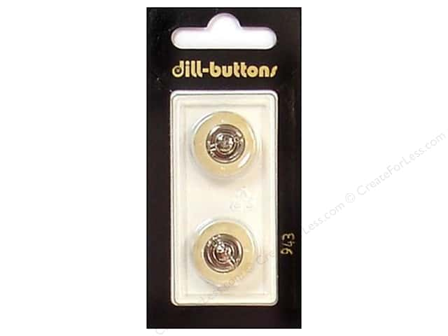 Dill Shank Buttons 11/16 in. Beige/Silver #943 2pc.