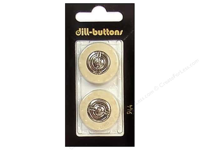 Dill Shank Buttons 1 in. Beige/Silver #944 2pc.