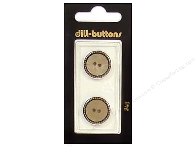 Dill 2 Hole Buttons 11/16 in. Beige/Antique Gold #948 2pc.