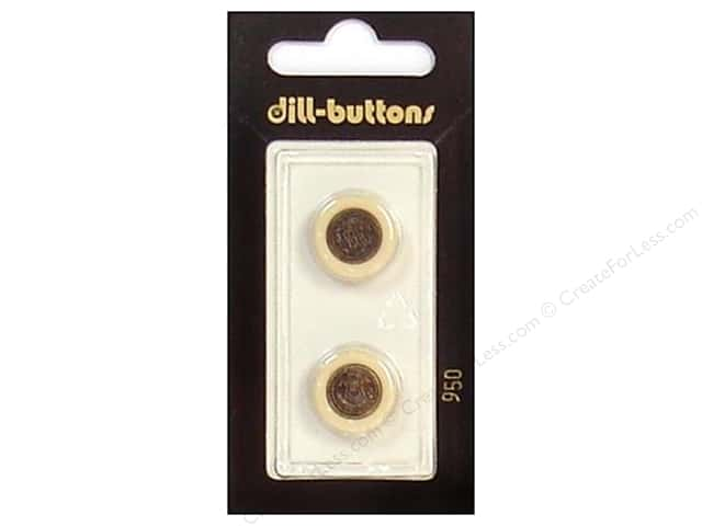 Dill Shank Buttons 5/8 in. Beige/Antique Gold #950 2pc.