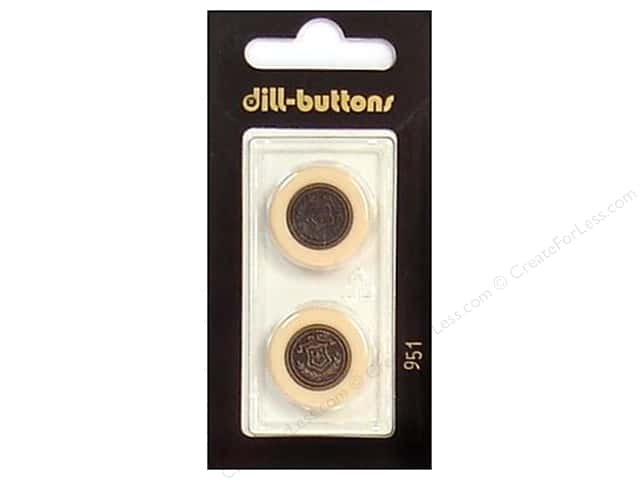 Dill Shank Buttons 13/16 in. Beige/Antique Gold #951 2pc.