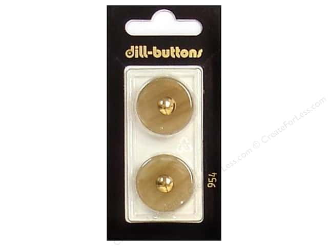 Dill Shank Buttons 7/8 in. Beige/Gold #954 2pc.