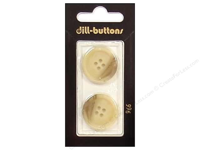 Dill 4 Hole Buttons 7/8 in. Beige #966 2 pc.