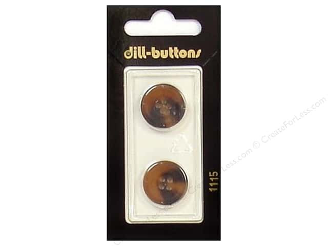 Dill 4 Hole Buttons 11/16 in. Brown #1115 2pc.