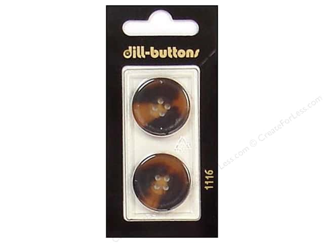 Dill 4 Hole Buttons 7/8 in. Brown #1116 2pc.