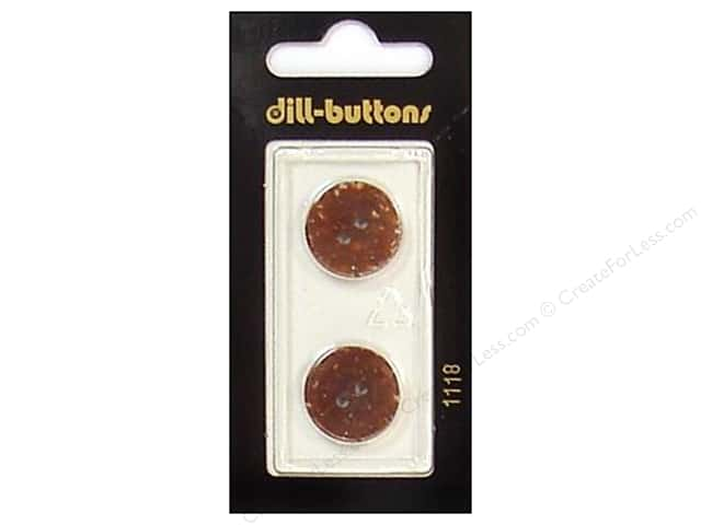 Dill 2 Hole Buttons 11/16 in. Brown #1118 2pc.