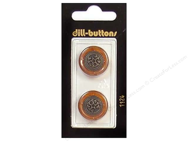 Dill Shank Buttons 13/16 in. Brown/Antique Gold #1124 2pc.