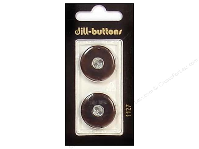 Dill Shank Buttons 7/8 in. Brown/Silver #1127 2pc.