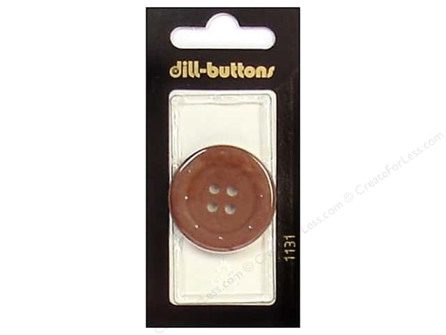 Dill 4 Hole Buttons 1 1/4 in. Brown #1131 1pc.