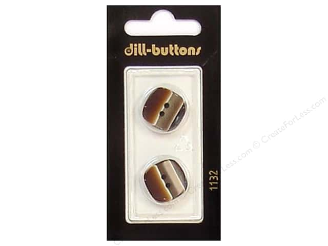 Dill 2 Hole Buttons 11/16 in. Brown #1132 2pc.
