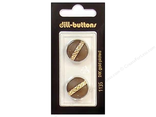 Dill Shank Buttons 11/16 in. Brown/Gold #1135 2pc.