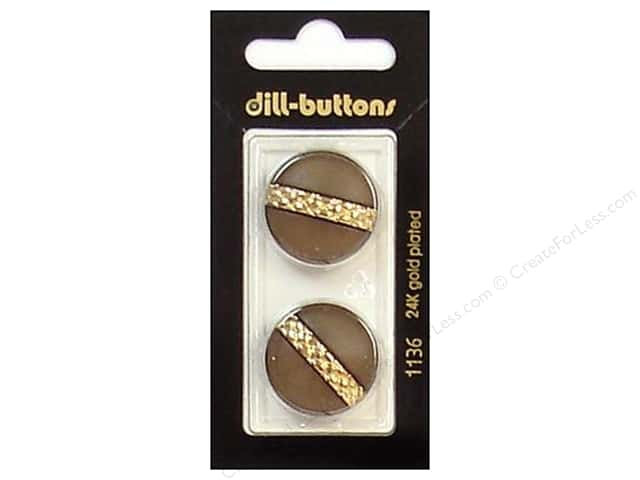Dill Shank Buttons 7/8 in. Brown/Gold #1136 2pc.