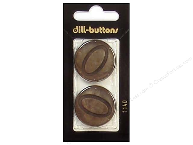 Dill Shank Buttons 1 1/8 in. Brown #1140 2pc.