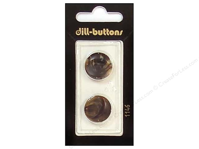 Dill 2 Hole Buttons 11/16 in. Brown #1146 2 pc.