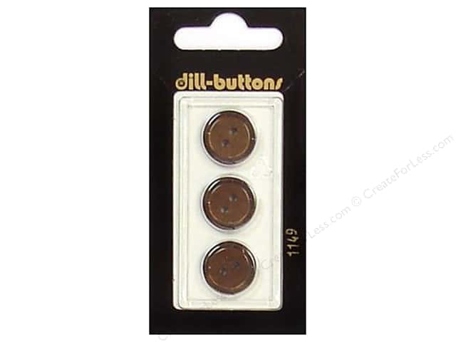 Dill 2 Hole Buttons 5/8 in. Brown #1149 3pc.