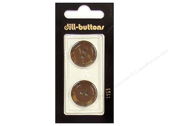 Dill 2 Hole Buttons 13/16 in. Brown #1151 2pc.