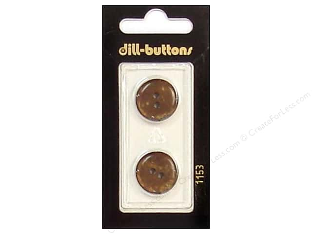 Dill 2 Hole Buttons 11/16 in. Brown #1153 2pc.