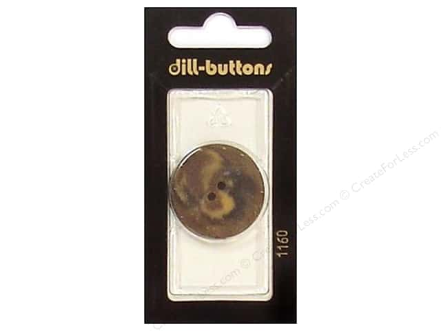 Dill 2 Hole Buttons 1 1/8 in. Brown #1160 1pc.