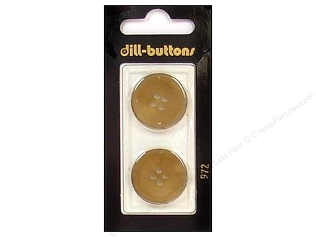 Dill 4 Hole Buttons 7/8 in. Beige #972 2pc.