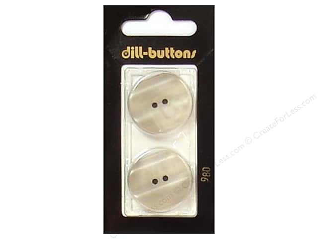Dill 2 Hole Buttons 1 in. Beige #980 2pc.